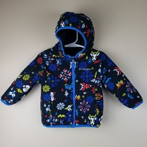 EUC Columbia Reversible Fleece Winter Coat size 2T